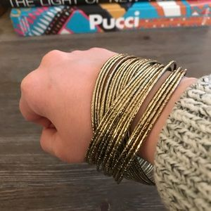 Multi Gold Bangle Bracelet